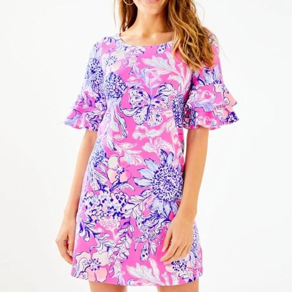 Lilly Pulitzer Dresses & Skirts - Lilly Pulitzer Lula Dress Pink Tropics Sun Drench